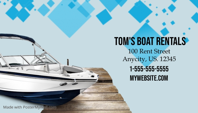 customizable design templates for boat postermywall