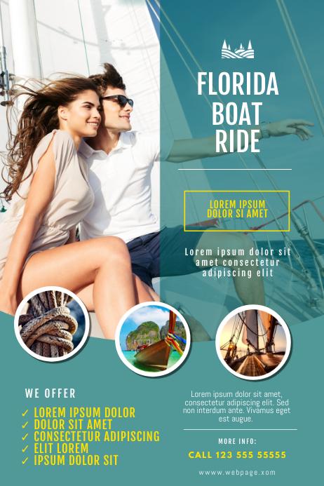 Boat Ride Business Flyer Template Plakat