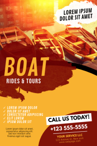 Boat Rides & Tours Flyer Template