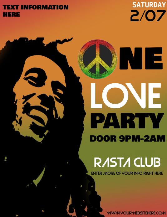 Bob Marley ใบปลิว (US Letter) template