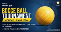 Bocce Ball Tournament Facebook Banner template