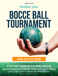 Bocce Ball Tournament Flyer template
