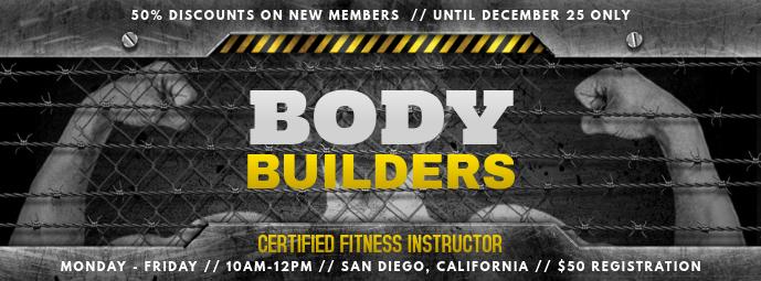 Body Building Gym Facebook Cover