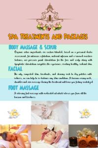 Body Spa Massage blank Template