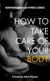 bodybuilding and fitness book cover design te Sampul Buku template