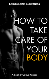 bodybuilding gym health and diet cover design Kindle-omslag template