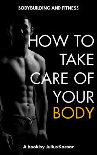 bodybuilding gym health and diet cover design Sampul Buku template