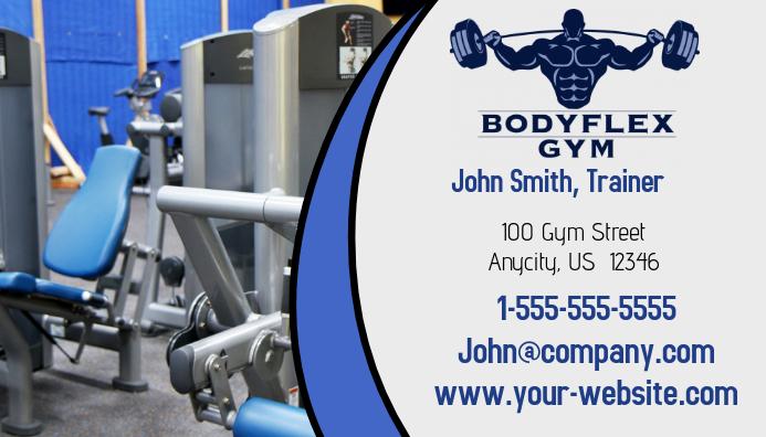 Bodyflex gym business card template postermywall bodyflex gym business card colourmoves