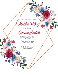 Bohemian Mother's Day Invitation