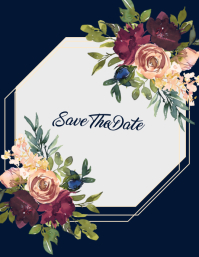 Boho Geometric Save The Date