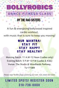 Bollywood Aerobics Dance Fitness Class
