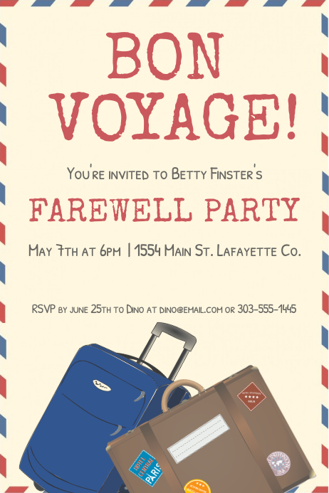 bon voyage invitation templates free - Kubre.euforic.co