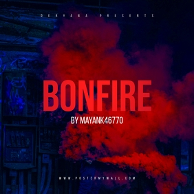 Bonfire CD Cover Template