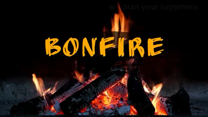 bonfire Tampilan Digital (16:9) template