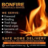 Bonfire Essential Service Video Template Publicação no Instagram