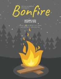 Bonfire Event flyer template