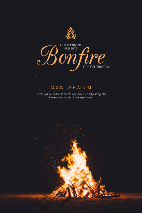 Bonfire Event Flyer Template