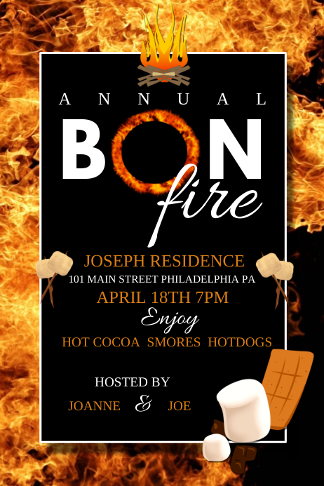 Bonfire Template Postermywall