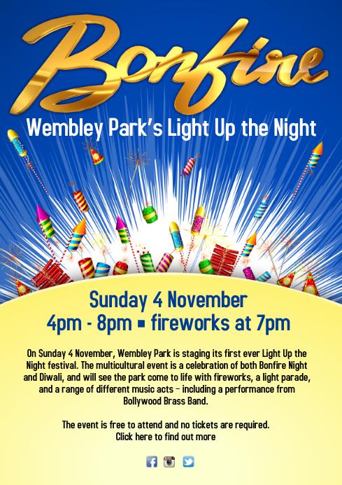 Bonfire Night Event Poster