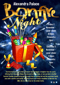 Bonfire Night Event Poster
