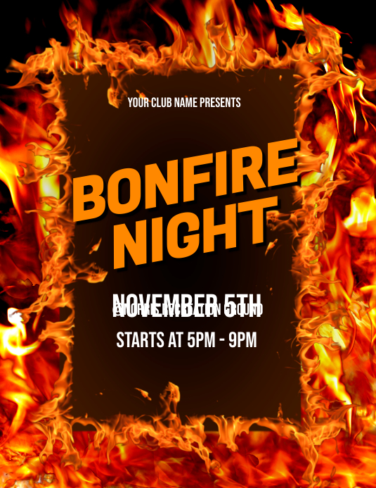 Bonfire Night Flyer
