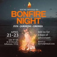 Bonfire Night Instagram Post Wpis na Instagrama template