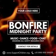 Bonfire Night Party 2020 Template Square (1:1)