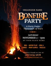 Bonfire Party Flyer Pamflet (Letter AS) template