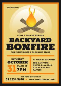 Bonfire Party Flyer A4 template