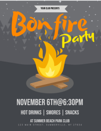 Bonfire Party Flyer