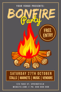 Bonfire Party Poster