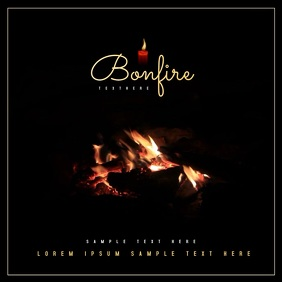 Bonfire Video Template Album Cover