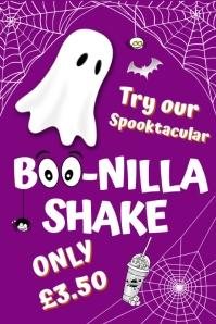 Boo-nilla Shake Poster template