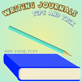 book and pencil - writing journals - tips and trix