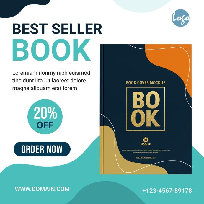 Book Banner Ad Template Instagram-bericht