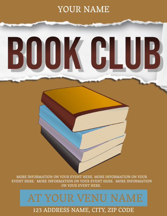 BOOK CLUB AD Flyer (US Letter) template