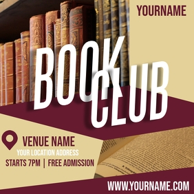 BOOK CLUB AD TEMPLATE Logo