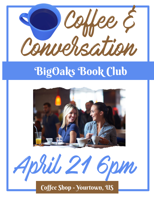 Book Club and Coffee Group Flyer