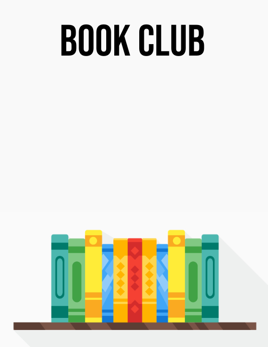 Book Club Flyer (US Letter) template