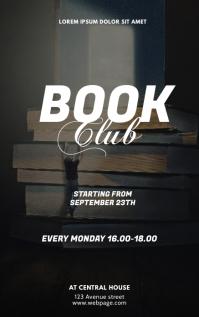 Book Club Flyer Design Template Sampul Buku