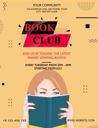 BOOK CLUB VIDEO FLYER AD Template