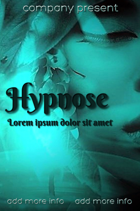 """Book Cover """"Hypnose"""" Plakat template"""