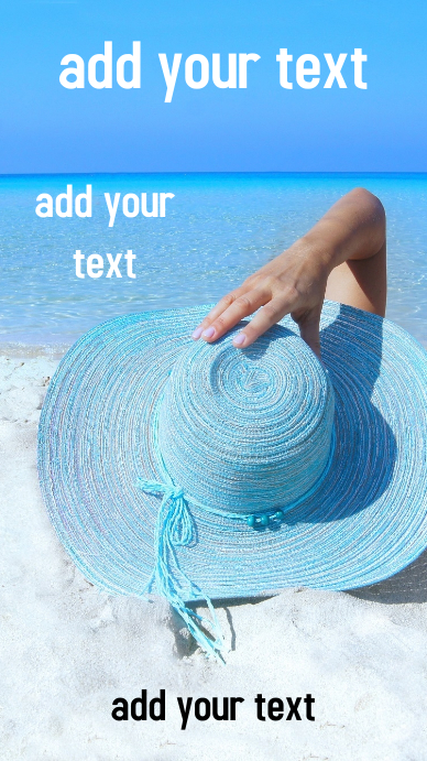 Book Cover Design Template Beach Vacation