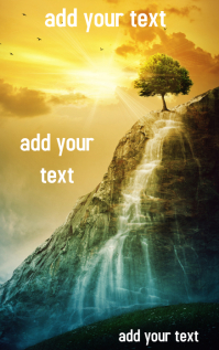 Book Cover Design Template Waterfall Inspirational Romantic