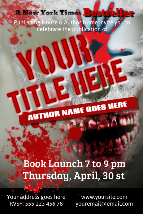 Book Cover Poster Template