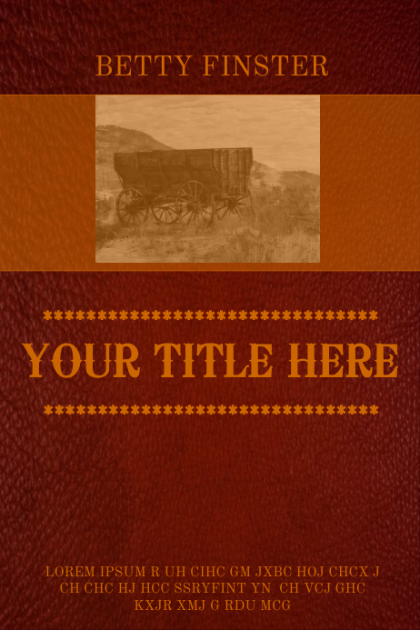 Book Cover Art Template ~ Book cover template postermywall