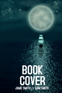 Book cover template flyer