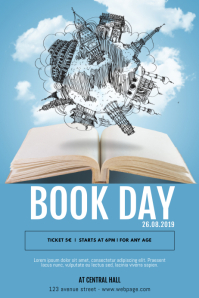 Book day Flyer template