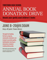 Book Donation Drive Flyer