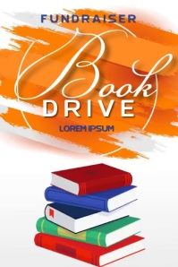 book drive charity SOCIAL MEDIA TEMPLATE Poster